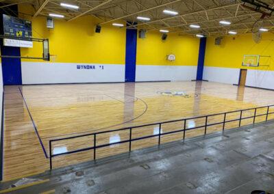 Wynona Public Schools Gym Floor